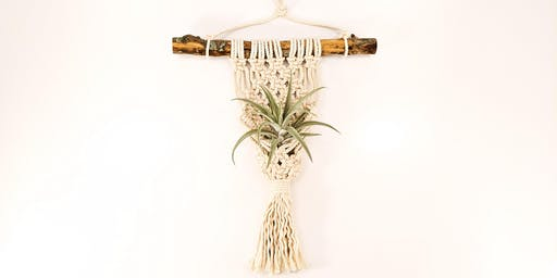 BYOB Make and Take Macrame Wall Hanging Class with Live Air Plants