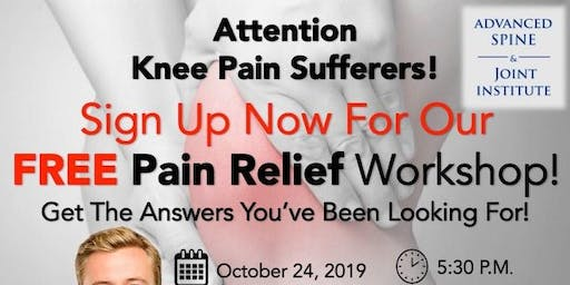 Free Pain Relief Workshop