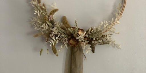 Dried flower hoop workshop