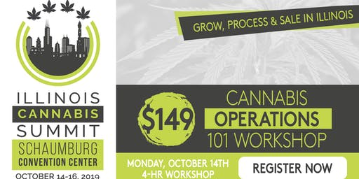 Pre-Summit: 4-Hr. Cannabis Operations 101 Workshop . Mon, October 14