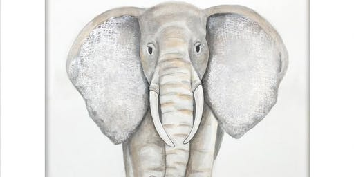 """Adult Watercolor Class   """"Elephant"""""""