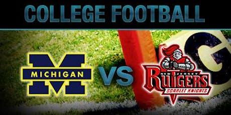 Michigan vs. Rutgers Football Watch Party tickets