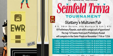 Seinfeld Trivia Tournament: Preliminary Round 3 tickets