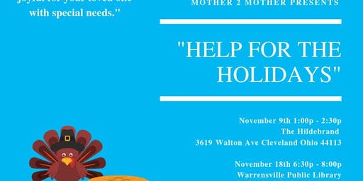 """Mother 2 Mother Support Meeting """" Help For the Holidays"""""""