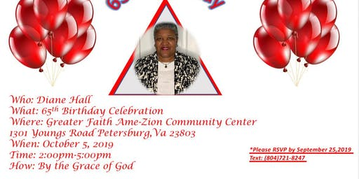 Copy of Diane Hall 65th Birthday Celebration !