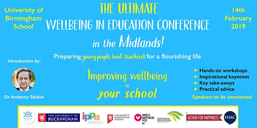 The Ultimate Wellbeing In Education Conference: Birmingham