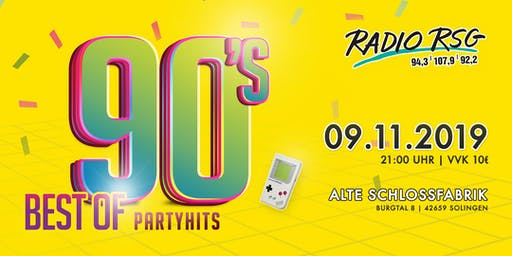Radio RSG 90er Party – Best of Partyhits (REGULÄRE TICKETS)