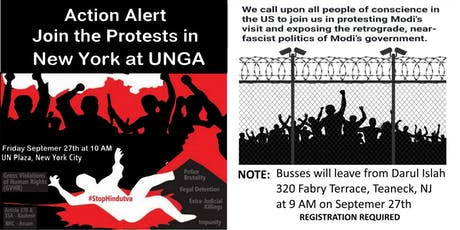 Kashmir Protest at UNGA New York City tickets