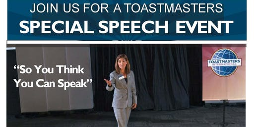 Elgin Toastmasters Speaking Event