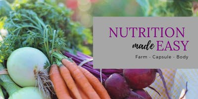 Nutrition made EASY! Come learn how You can do it!