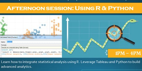 Using R & Python with Tableau - afternoon session tickets