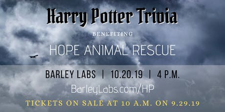 Harry Potter Trivia for Hope Animal Rescue tickets