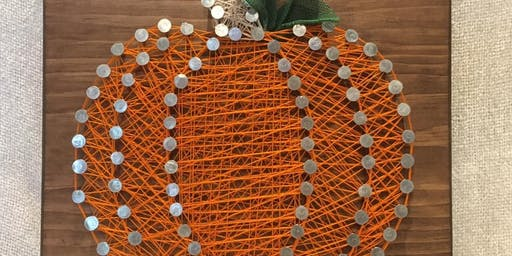 Pumpkin String Art and Candle Making