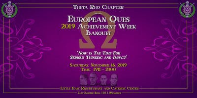 Omega Psi Phi Theta Rho Chapter Achievement Week Banquet