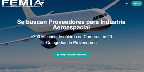 """Webinar Informativo acerca del Seminario """"Se un Proveedor Aeroespacial"""" tickets"""
