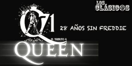 """""""Q71"""" - EL MEJOR TRIBUTO A QUEEN """"28 AÑOS SIN FREDDIE"""" entradas"""