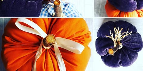 Decorative Fabric Pumpkins for Halloween  with Samantha from Poppykins tickets