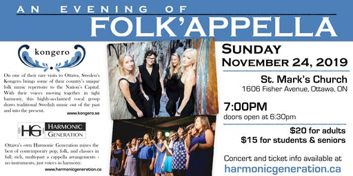 An Evening of Folk'appella - Kongero & Harmonic Generation