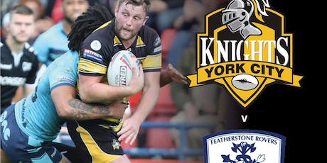York City Knights V Featherstone Rovers Play Off Semi Final tickets