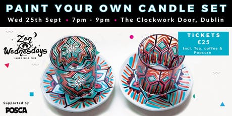 Paint Your Own Candle Set - Zen Wednesdays tickets