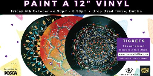 "Paint a 12"" Vinyl (Incl. a Free Drink)"