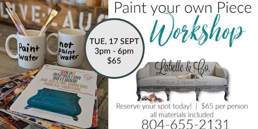 Paint your own Piece Workshop 9/17