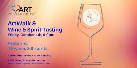 ArtWalk & Wine & Spirit Tasting at the Heart of Delray Gallery tickets