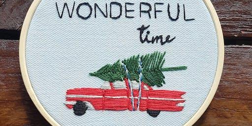 Christmas Hoop Embroidery - 27 November 2019