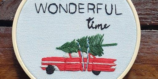 Christmas Hoop Embroidery - 30 November 2019
