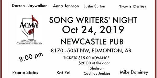 ACMA Songwriter Showcase - featuring some of the best talent in Alberta!