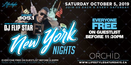 LIFESTYLE SATURDAYS - NEW YORK LIFESTYLE | SATURDAY OCTOBER 5 INSIDE ORCHID tickets