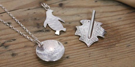 Silver Jewellery Workshop - Pendant or Earrings  (Tutor: Ruth, NI Silver) tickets