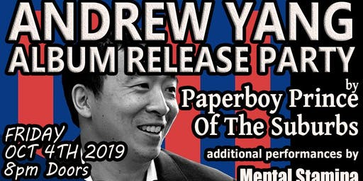 """""""Andrew Yang"""" NY Album Release Party"""