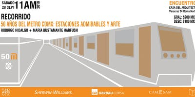 Recorrido: 50 Años del metro CDMX, estaciones admirables y arte