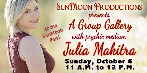 Group Gallery with psychic medium Julia Makitra at the SunMoon Fair