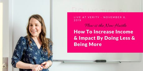 Increase income and impact by doing less & being more tickets
