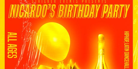 Nicardo's birthday party tickets
