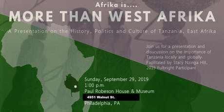More Than West Afrika: The History, Politics, and Culture of Tanzania tickets