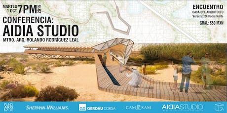 Conferencia: AIDIA STUDIO - Arquitectura y Diseño Emergente [Londres, UK] tickets