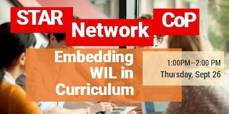 STAR Network CoP- Embedding Work Integrated Learning in the curriculum tickets