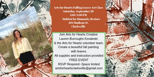Autumn Leaf Painting with Arts for Hearts Creative Lauren Burroughs Kovaleski