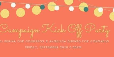 Angelica Duenas & CJ Berina for Congress - Kick Off Party tickets
