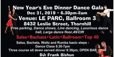 New Year's Eve Salsa, Latin and Ballroom Dinner Dance Gala, Dec 31, 2019 tickets