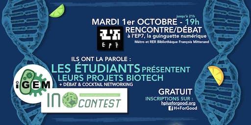 On vous donne la parole : Les projets étudiants du domaine des biotech !
