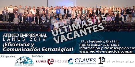 Ateneo Empresarial Lanús 2019 / Eficiencia y Comun entradas