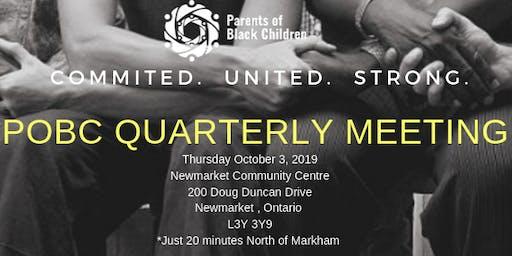 October Parent Meeting- Parents of Black Children
