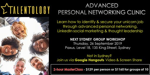 Advanced Personal Networking Clinic