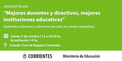 Mejores docente y directivos, mejores instituciones educativas