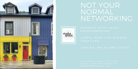 Not your normal networking. tickets
