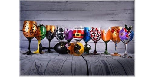 Wine Glass Painting Class (2019-10-31 starts at 12:00 PM)